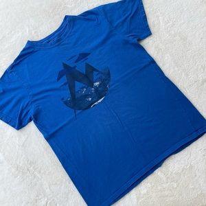 Marmot 100% Organic Cotton T-Shirt Tee Blue sz M